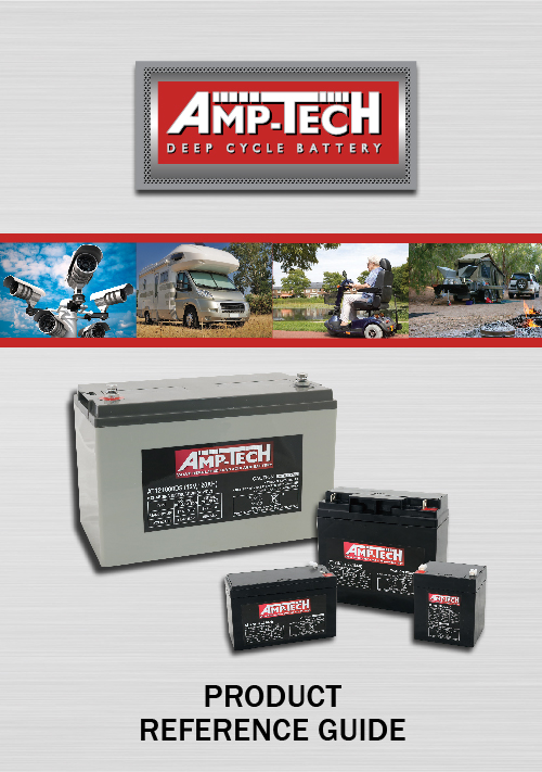 AMP Tech Deep Cycle Batteries | SuperCharge Brochure