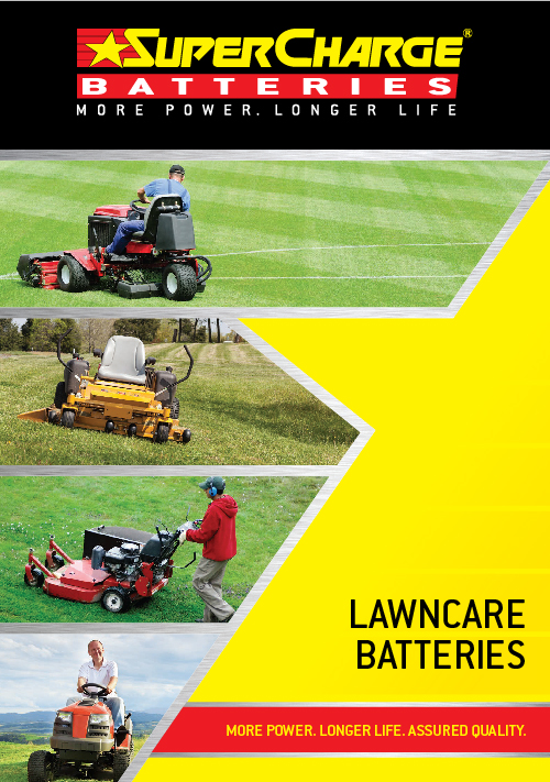 Lawn Care Battery Range | SuperCharge Brochure