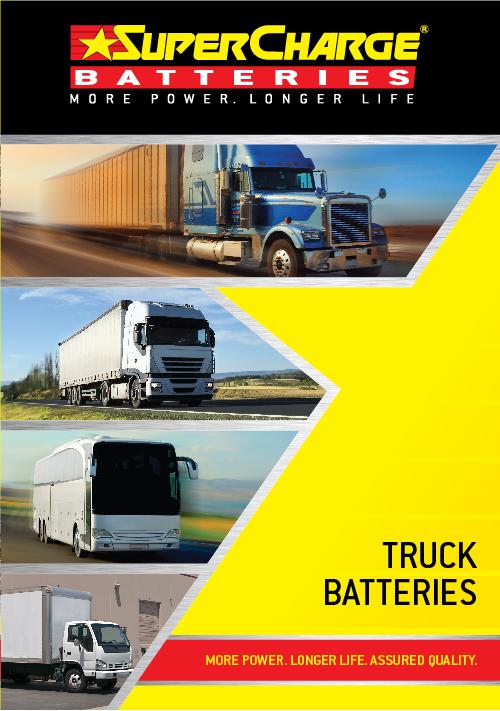 Truck Battery Range | SuperCharge Brochure